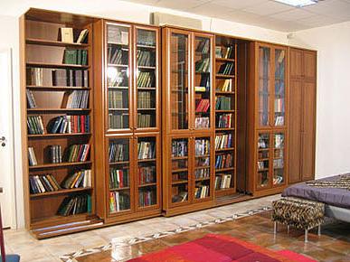 Раздвижные шкафы для книг, раздвижные библиотеки, книжный шк.